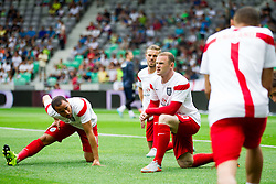 Andros Townsend of England and Wayne Rooney of England at warming up prior to the EURO 2016 Qualifier Group E match between Slovenia and England at SRC Stozice on June 14, 2015 in Ljubljana, Slovenia. Photo by Vid Ponikvar / Sportida