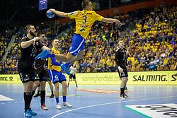 Jan Jurecic of RK Celje Pivovarna Lasko during handball match between RK Celje Pivovarna Lasko (SLO) and HC PPD Zagreb (CRO) in Group phase of VELUX EHF Men's Champions League 2018/19, November 18, 2018 in Arena Zlatorog, Celje, Slovenia. Photo by Urban Urbanc / Sportida