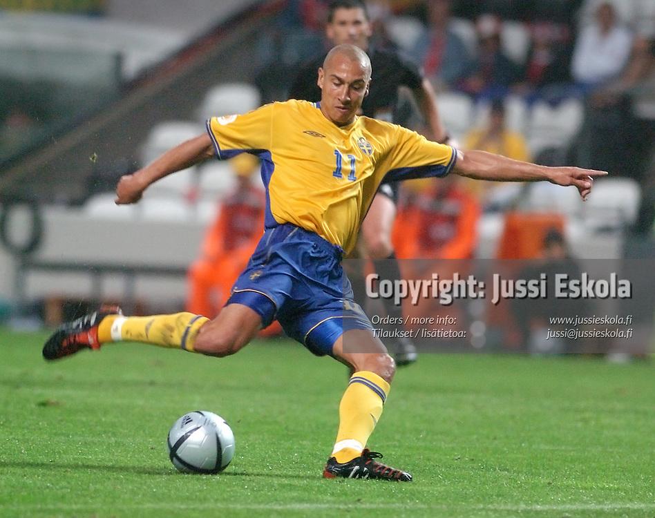 Henrik Larsson, Sweden-Denmark 22.6.2004.&amp;#xA;Euro 2004.&amp;#xA;Photo: Jussi Eskola<br />