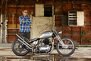 Josh Alison BSA bobber photo by Aspen Photo and Design
