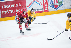 SVETINA Erik during Alps Hockey League match between HC Pustertal and HDD SIJ Jesenice, on April 3, 2019 in Ice Arena Podmezakla, Jesenice, Slovenia. Photo by Peter Podobnik / Sportida