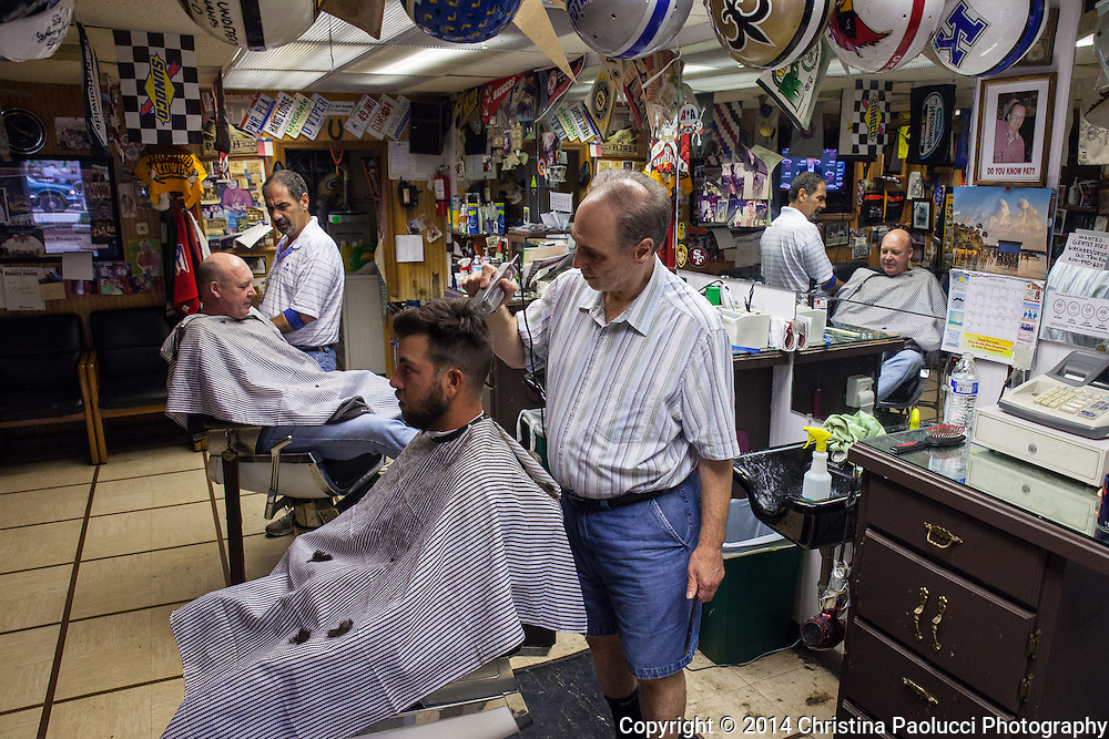 The Olde Village Barber in Worthington, Ohio Saturday June 21, 2014. (Christina Paolucci, photographer).