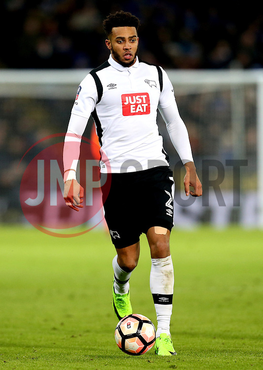 Cyrus Christie of Derby County - Mandatory by-line: Robbie Stephenson/JMP - 08/02/2017 - FOOTBALL - King Power Stadium - Leicester, England - Leicester City v Derby County - Emirates FA Cup fourth round replay