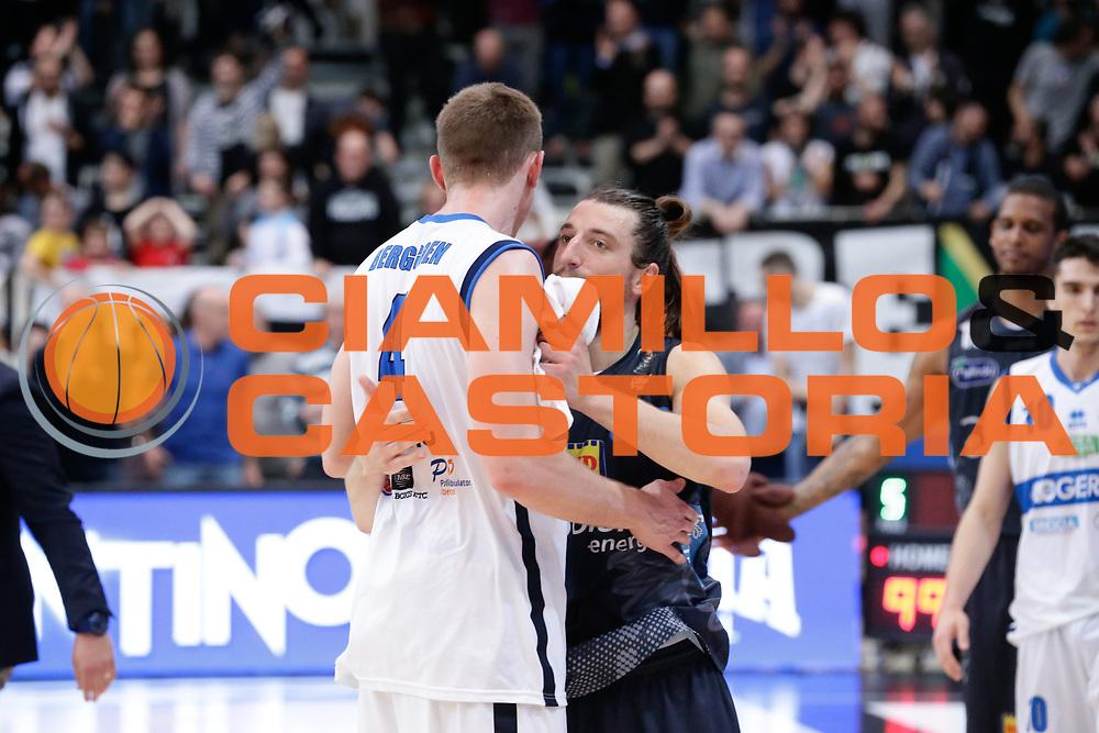 Berggren jared, Aaron Craft<br /> Dolomiti Energia Aquila Basket Trento - Germani Basket Brescia Leonessa<br /> Lega Basket Serie A 2016/2017<br /> PalaTrento, 23/04/2017<br /> Foto Ciamillo-Castoria / M. Brondi