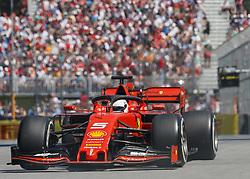 June 9, 2019 - Quebec, Canada - SEBASTIAN VETTEL of Germany driving the (5) Scuderia Ferrari SF90 during the F1 Grand Prix of Canada at Circuit Gilles Villeneuve on June 9, 2019 in Montreal, Canada. (Credit Image: © Andrew Chin/ZUMA Wire)