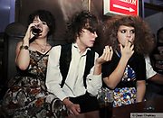 Young teenage indie kids wearing retro, vintage clothing at The Junk Club, Southend, UK 2006