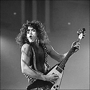 Paul Stanley and Kiss perform at the Honolulu International Center Arena in 1975.  The Honolulu International Center (HIC) has now been re-named the Neil S. Blaisdell Arena.  .©PF Bentley/PFPIX.com