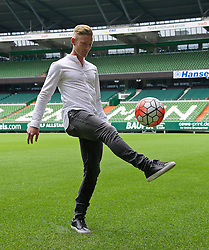 20.06.2016, Weserstadion, Bremen, GER, 1. FBL, SV Werder Bremen, Spielerpräsentation, im Bild Florian Kainz // during the presentation of the new player of the german football club SV Werder Bremen at the Weserstadion in Bremen, Germany on 2016/06/20. EXPA Pictures © 2016, PhotoCredit: EXPA/ Andreas Gumz<br /> <br /> *****ATTENTION - OUT of GER*****