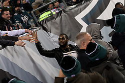 North Philadelphia raper Meek Mill and entourage attend the December 26, 2015 NFC East Division game between Philadelphia Eagles and Washington Redskins at Lincoln Financial Field. (Photo by Bastiaan Slabbers)