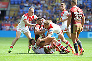 Fouad Yaha of Catalans Dragons in action against St Helens during the Ladbrokes Challenge Cup Semi Final match at the Macron Stadium Stadium, Bolton.<br /> Picture by Michael Sedgwick/Focus Images Ltd +44 7900 363072<br /> 05/08/2018