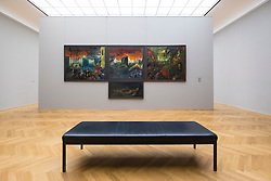 """Triptich By Hans Grundig, """" The Thousand Years Empire"""" at Albertinum art museum in Dresden, Germany"""