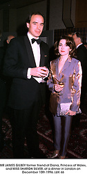 MR JAMES GILBEY former friend of Diana, Princess of Wales, and MISS SHARON SILVER, at a dinner in London on December 10th 1996. LUK 46
