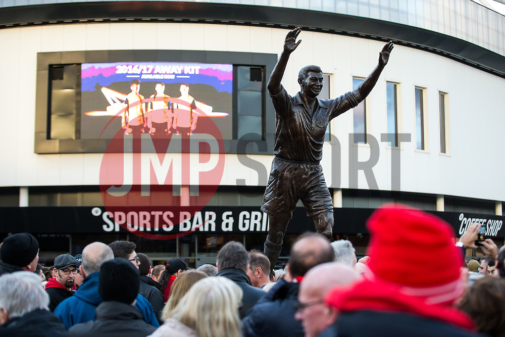 Statue of Bristol City legend John Atyeo is unveiled at the redeveloped Ashton Gate - Rogan Thomson/JMP - 05/11/2016 - FOOTBALL - Ashton Gate Stadium - Bristol, England - Bristol City v Brighton & Hove Albion - Sky Bet Championship.