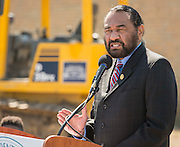 Al Green comments during a groundbreaking ceremony at Codwell Elementary School, March 3, 2017.