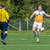 5th year defender Kayla McDonald (3) of the Regina Cougars during the Women's Soccer Homeopener on September 10 at U of R Field. Credit: Arthur Ward/Arthur Images