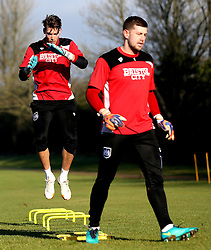 Fabian Giefer of Bristol City and Frank Fielding of Bristol City take part in training - Mandatory by-line: Robbie Stephenson/JMP - 19/01/2017 - FOOTBALL - Bristol City Training Ground - Bristol, England - Bristol City Training