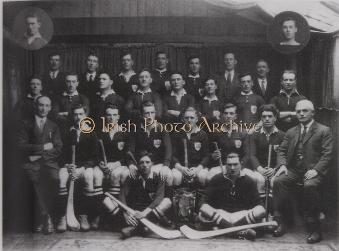 Cork-All-Ireland Hurling Champions 1926. Inserts: J Coughlan, Pk Aherne. Back Row: M Dorney, M Leahy, M Aherne, M Murphy, E O'Connell, P J O'Keeffe (Sec Co Board), T Long. Middle Row: W Higgins, J Kearney, M Murphy, J Kennedy, M O'Connell, B Mullins, M Scannell, M Murphy. Seated: S McCarthy (Chairman Co Board), E O'Donnell, J O'Regan, J Hurley, S Og Murphy ( capt), E Coughlan, P Delea, E Fitzgerald. Front: D B Murphy, J Egan.<br />