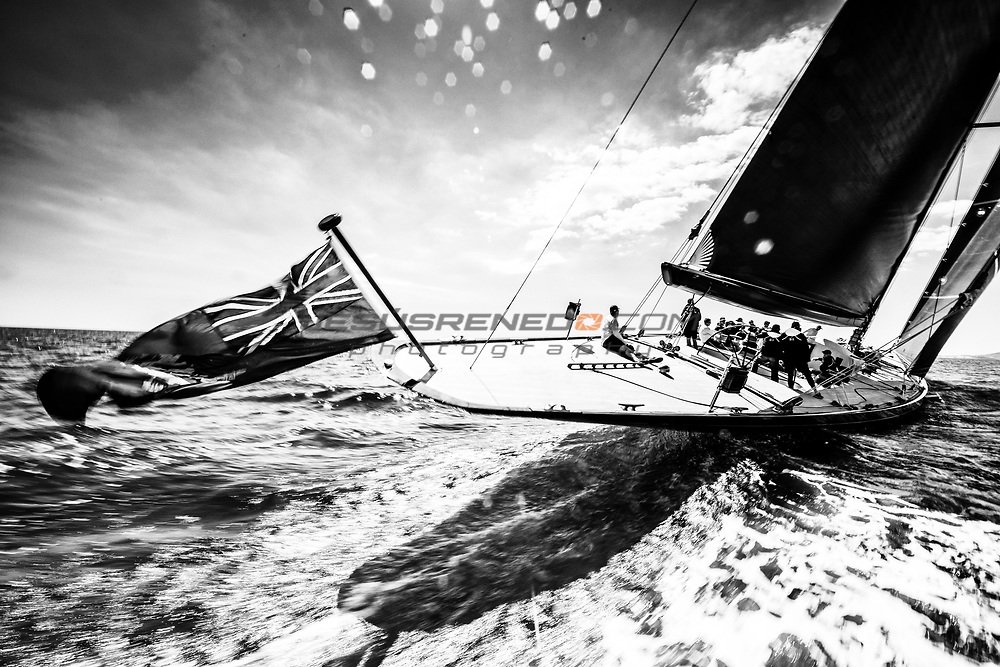 "J Class ""Svea"" sea trials in Palma  March 2017"