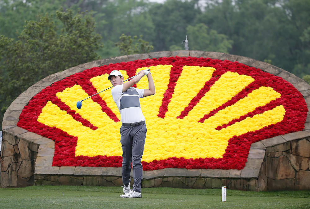 Seung-Yul Noh drives off of the 18th tee in the Shell Houston Open-Round 1 at the Golf Club of Houston on Wednesday, March 31, 2016 in Humble, TX. (Photo: Thomas B. Shea/For the Chronicle)