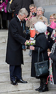Brussels , 17-02-2017 <br /> <br /> King Filip and Queen Mathilde leave the Laken Cathedral after attending a Holy Mess for passed away family members.<br /> <br /> <br /> ONLY PUBLICATION IN FRANCE!!<br /> <br /> COPYRIGHT: ROYALPORTRAITS EUROPE/ BERNARD RUEBSAMEN