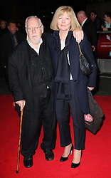 Sir Peter Blake and wife arriving for the premiere of the Rolling Stones documentary film Crossfire Hurricane at the London Film Festival, Thursday, 18th October 2012. Photo by: Stephen Lock / i-Images