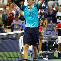 Kevin Anderson of South Africa celebrate his victory during day 12 of the Us Open 2017 at USTA Billie Jean King National Tennis Center on September 8, 2017 in New York City. (Photo by Marek Janikowski/Icon Sport)