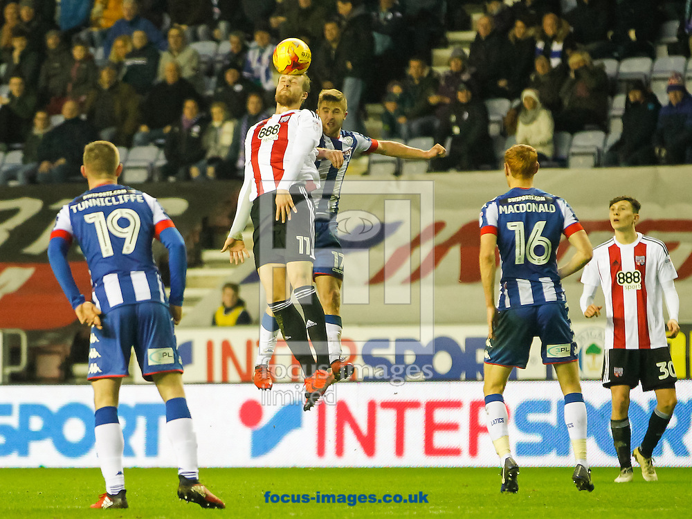 Philipp Hofmann of Brentford during the Sky Bet Championship match between Wigan Athletic and Brentford at the DW Stadium, Wigan<br /> Picture by Mark D Fuller/Focus Images Ltd +44 7774 216216<br /> 21/01/2017