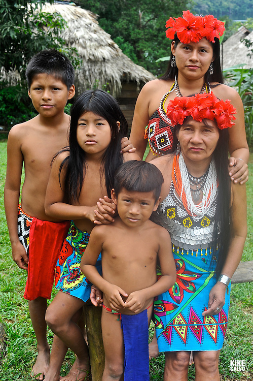 Embera communities are scattered in this border wilderness, largely protected in national parks, including 318,000 acre Chagres National Park and adjoining 55,000 acre Soberania National Park.