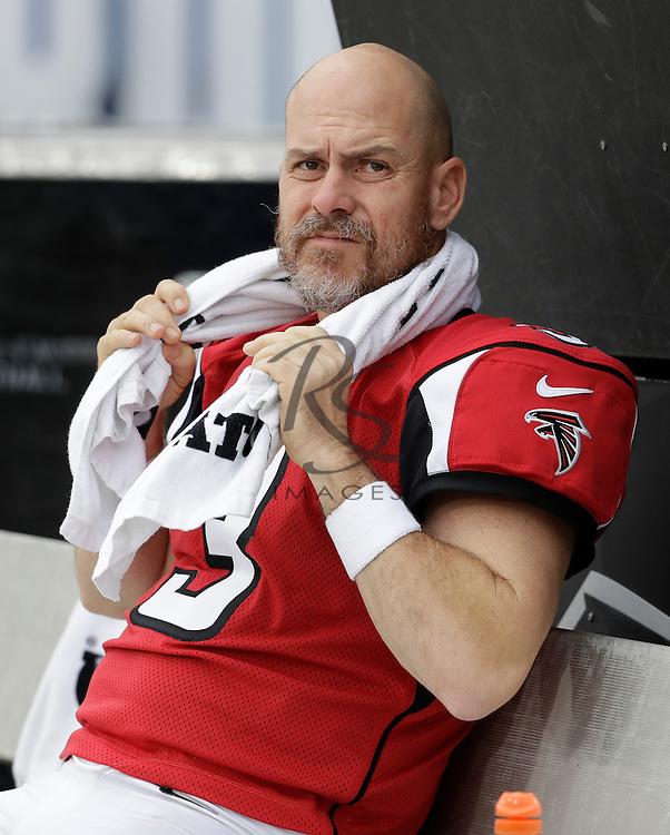 Atlanta Falcons kicker Matt Bryant (3) during the first half of an NFL football game against the Los Angeles Rams, Sunday, Dec. 11, 2016, in Los Angeles. (AP Photo/Rick Scuteri)