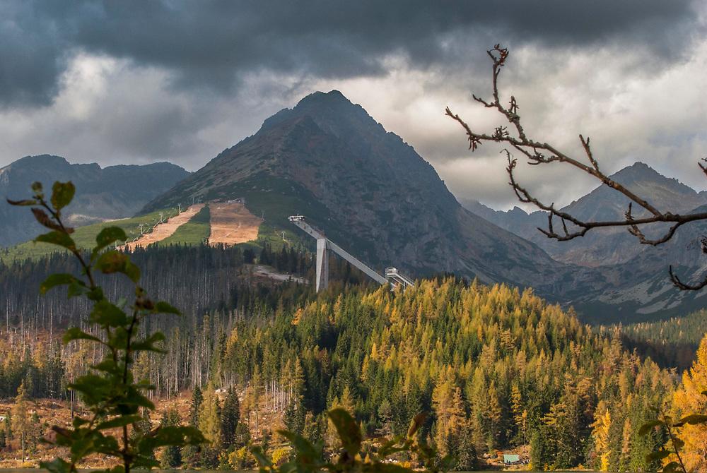 One of the ski areas in Tatras National Park, Slovakia