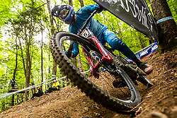 Benoit Coulanges of France during Mercedes-Benz UCI Mountain Bike World Cup competition final day in Bike Park Pohorje, Maribor on 28th of April, 2019, Slovenia.  . Photo by Grega Valancic / Sportida