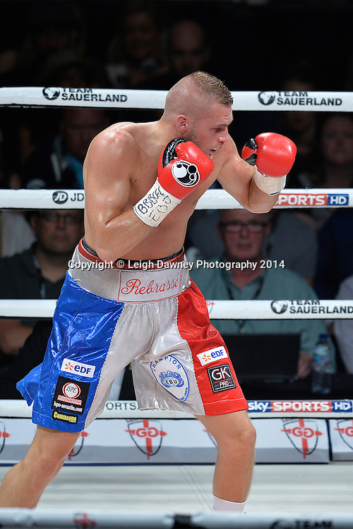 George Groves defeats Christopher Rebrasse (pictured) for the EBU (European) Super Middleweight Title & Vacant WBC Super Middleweight Title at the SSE Wembley Arena, London on the 20th September 2014. Sauerland Promotions. Credit: Leigh Dawney Photography.