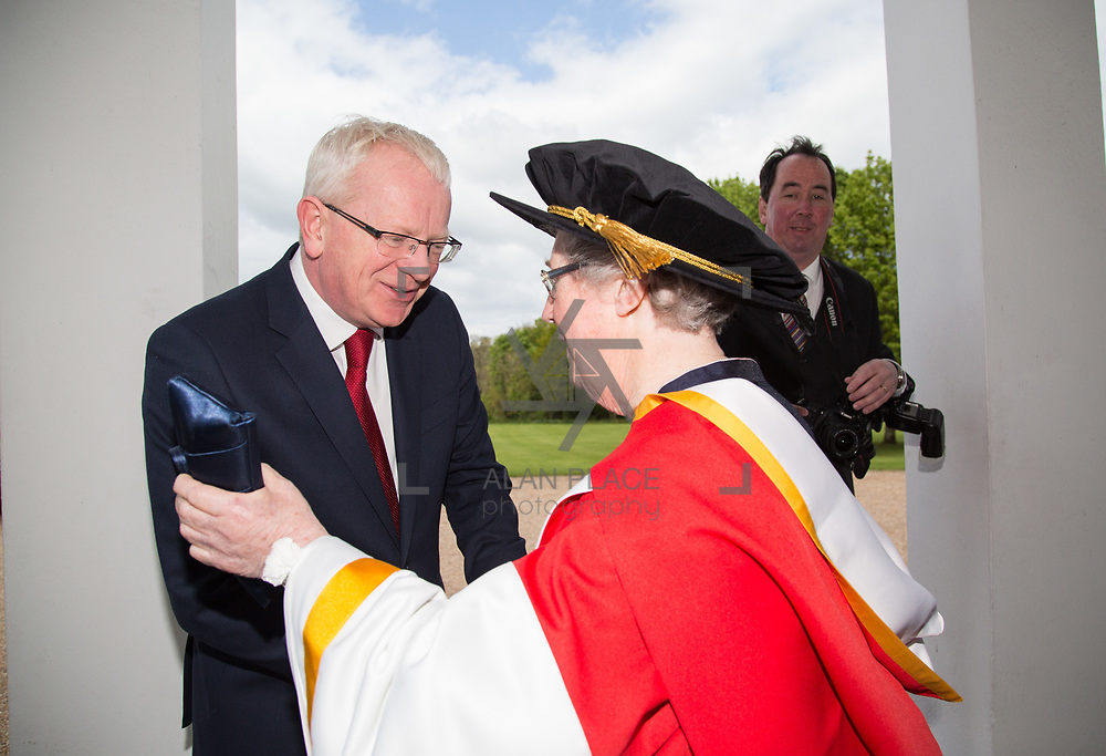 26.04.2017.          <br /> The University of Limerick today conferred Honorary Doctorates on two exceptional individuals from the worlds of business and education, Sr. Angela Bugler and Vincent Roche.&nbsp; <br /> Pictured are Sr Angela Bugler, former President of Mary Immaculate College Limerick who was conferred with the honorary degree of Doctor of Letters and  Prof. Vincent  Cunnane President LIT. Picture: Alan Place.