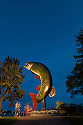 Huskie the Muskie at dusk<br /> Kenora<br /> Ontario<br /> Canada