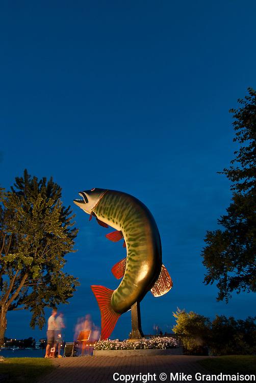 Huskie the Muskie at dusk<br /> Kenora<br /> Ontario<br /> Canada