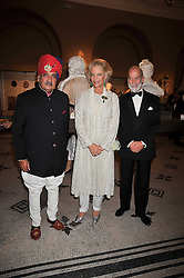 Left to right, HIS HIGHNESS MAHARAJA GAJ SINGH I I OF MARWAR- JODHPUR and PRINCE & PRINCESS MICHAEL OF KENT at a dinner to celebrate the opening of 'Maharaja - The Spendour of India's Royal Courts' an exhbition at the V&A, London on 6th October 2009.