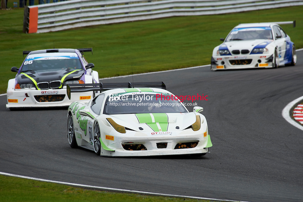 #60 Wayne MARRS Ferrari 458 GTC during MSVR Oulton Park 10th October 2015 at Oulton Park, Little Budworth, Cheshire, United Kingdom. October 10 2015. World Copyright Taylor/PSP. Copy of publication required for printed pictures.  Every used picture is fee-liable. http://archive.petertaylor-photographic.co.uk