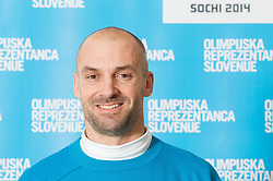 Blaz Perko poses for a portrait during presentation of Team Slovenia for Sochi 2014 Winter Olympic Games on January 22, 2014 in Grand Hotel Union, Ljubljana, Slovenia. Photo by Vid Ponikvar / Sportida