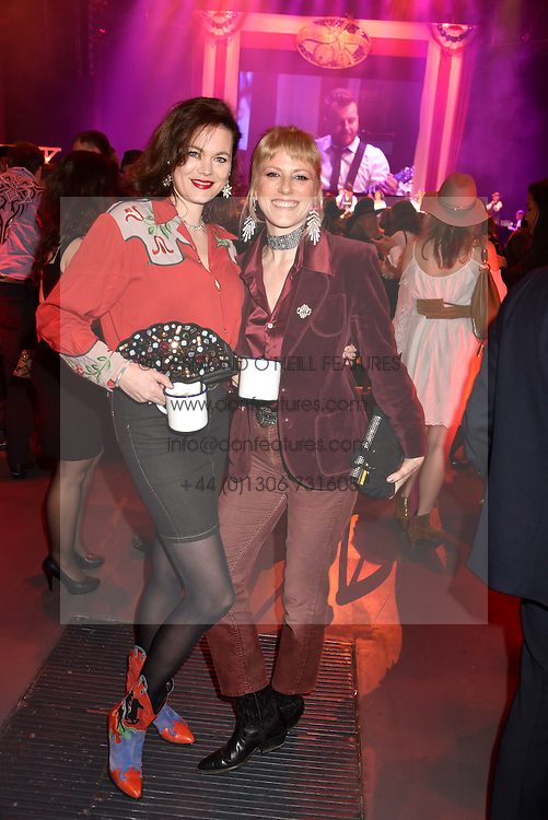 Left to right, Jasmine Guinness and Alice Fitzpatrick at the Save The Children's Night of Country at The Roundhouse, London England. 2 March 2017.