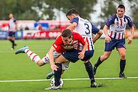 WIJDEWORMER - 03-09-2016, Jong AZ - Excelsior Maassluis, AFAS trainingscomplex, Jong AZ speler Nick Doodeman, Excelsior Maassluis speler Hamit Alptekin.