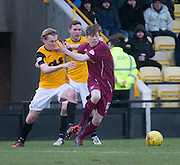 Arbroath&rsquo;s Kane Hester and East Fife&rsquo;s Jonathan Page - East Fife v Arbroath, SPFL League Two at New Bayview<br /> <br />  - &copy; David Young - www.davidyoungphoto.co.uk - email: davidyoungphoto@gmail.com