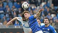 v.l. Coke (Schalke), Felix Platte<br /> Darmstadt, 16.04.2017, Fussball Bundesliga, SV Darmstadt 98 - FC Schalke 04 2:1<br /> <br /> Norway only