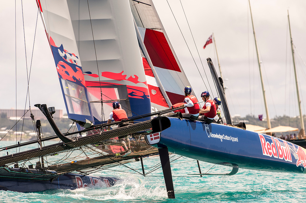 Great Sound, Bermuda. 15th June 2017. Red Bull Youth America's Cup. Race 1 of Qualifier 2 (Group A) Youth Vikings Denmark.