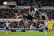 Newcastle United defender Chancel Mbemba (18) during the EFL Sky Bet Championship match between Newcastle United and Burton Albion at St. James's Park, Newcastle, England on 5 April 2017. Photo by Richard Holmes.