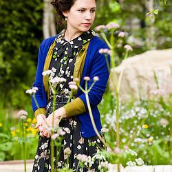 LONDON, UK - 21 May 2012: Garden designer Sarah Price at the Telegraph Garden during the RHS Chelsea Flower Show 2012.