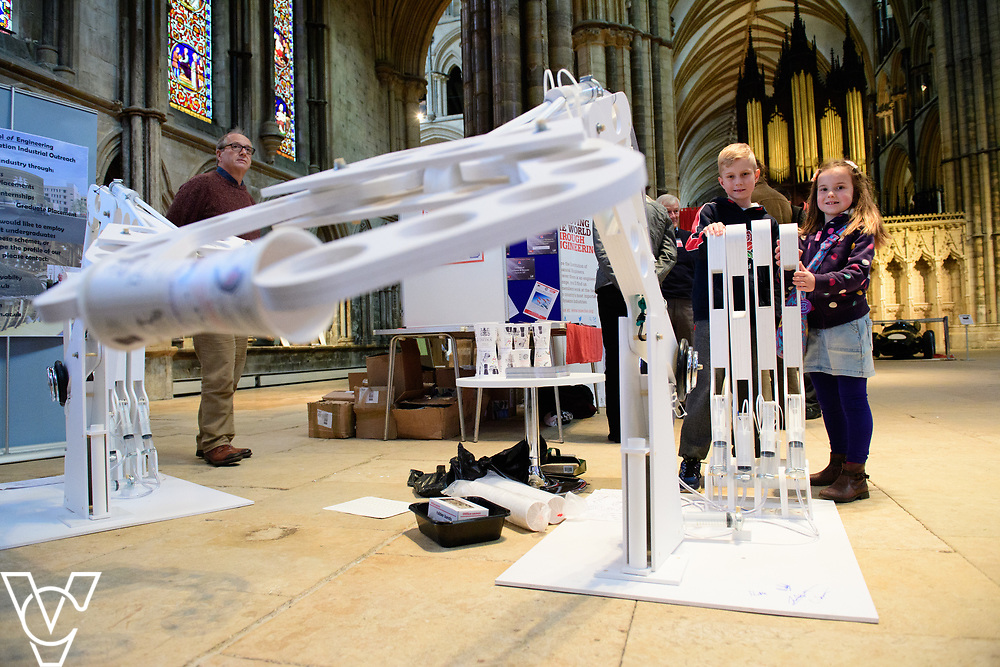 SPARK! Engineering Festival 2017 held at Lincoln Cathedral.  The event, which is a celebration of engineering takes place between May 5 and May 7, 2017.<br /> <br /> Picture: Chris Vaughan Photography<br /> Date: May 6, 2017