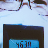 February 11,2017,  Tokyo ,   citizen from Koriyama participate  on     civil  group  for radioactive material  measurement in Fukushima prefecture  talk about his thyroid by Visio conference. Pierre Boutier