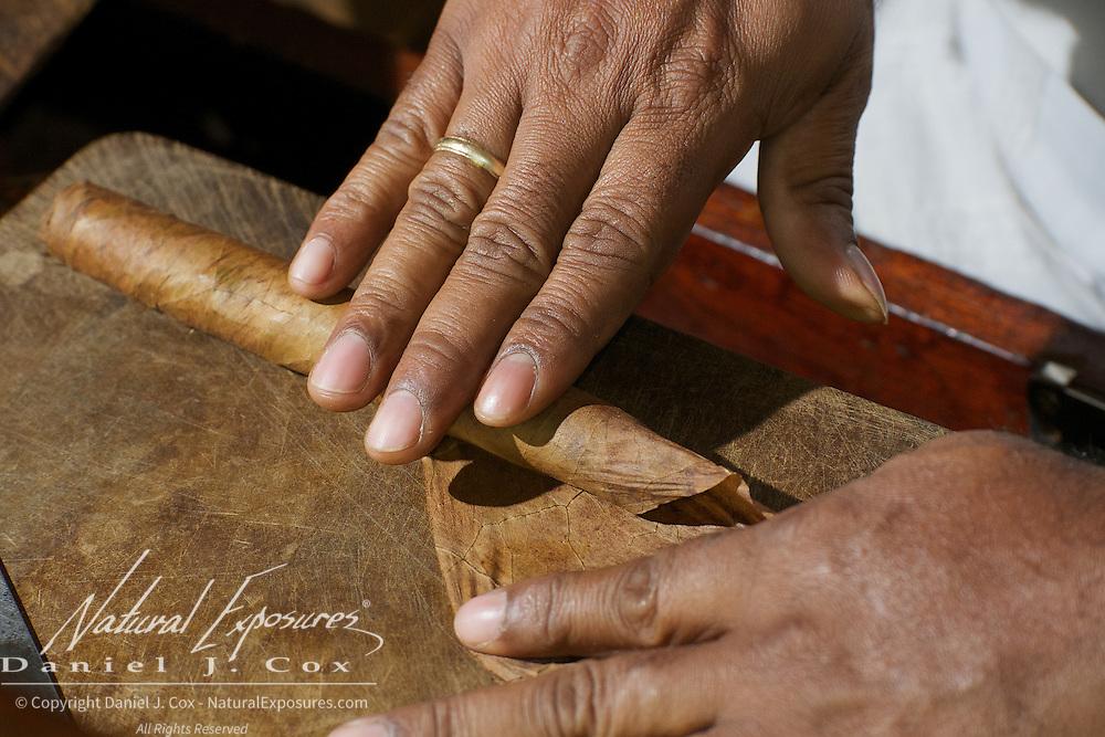 Crafting cigars in Havana, Cuba.