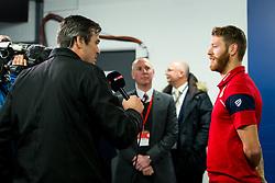 Nathan Baker of Bristol City is interviewed by Sky Sports before the game - Rogan/JMP - 20/12/2017 - Ashton Gate Stadium - Bristol, England - Bristol City v Manchester United - Carabao Cup Quarter Final.