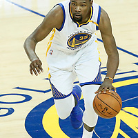 04 June 2017: Golden State Warriors forward Kevin Durant (35) drives during the Golden State Warriors 132-113 victory over the Cleveland Cavaliers, in game 2 of the 2017 NBA Finals, at the Oracle Arena, Oakland, California, USA.